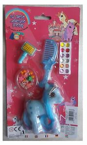 Il-mio-amico-pony-piccolo-azzurro-floccato-accessori-tipo-my-little-pony-vintage