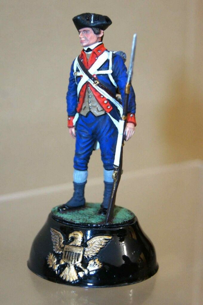 CHAS STADDEN 11 PRIVATE 3rd NEW JERSEY blueES REGIMENT 1777 STUDIO PAINTED ow
