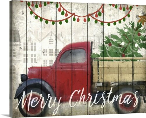Christmas Delivery Canvas Wall Art Print Truck Home Decor