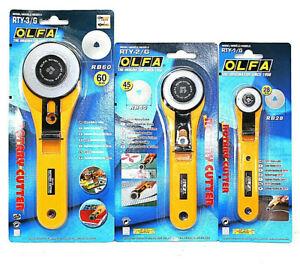 Olfa-Originales-Sharp-Cortador-Rotatorio-28mm-45mm-60mm-Recortes-Artesania-Papel-Tela-Cuero