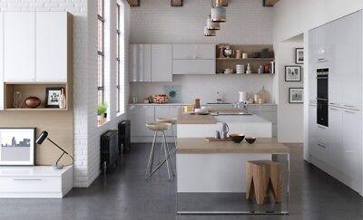 Zola Gloss White Kitchen, Kitchen Stori, Rigid Built available in 7 colours