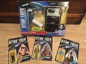 Star Trek Phaser Et Médical Tricorder & 3 Figurines Sous Blister Neuf Reedition