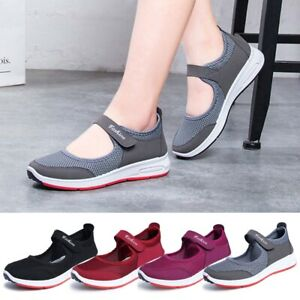 Womens-Ladies-Flat-Antiskid-Breathable-Beach-Sandals-Slip-on-Trainers-Shoes-Size