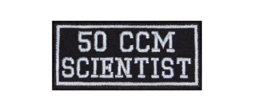 50 CC Scientist Biker Patch ricamate moto MC Rocker STAFFA immagine CC di ruolo