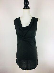 Isda & Co Womens Size Medium Gray Modal Cashmere Blend Sleeveless Blouse. A6