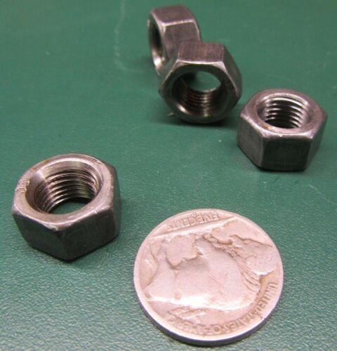 """3//8/""""-24 9//16/"""" W x 21//64/"""" H RH Grade 5 Steel Hex Nut 200 Pcs"""