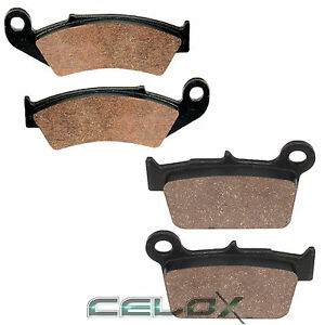 Front Rear Brake Pads For Yamaha YZ125 YZ250 Competition 2003 2004 2005 2006 07
