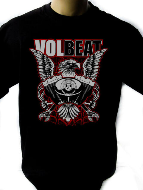 VOLBEAT Eagle Black New T-Shirt Fruit of the Loom ALL SIZES