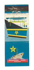 JOHNSON LINE SWEDEN MATCHBOX LABEL ANNI '50 MARINA