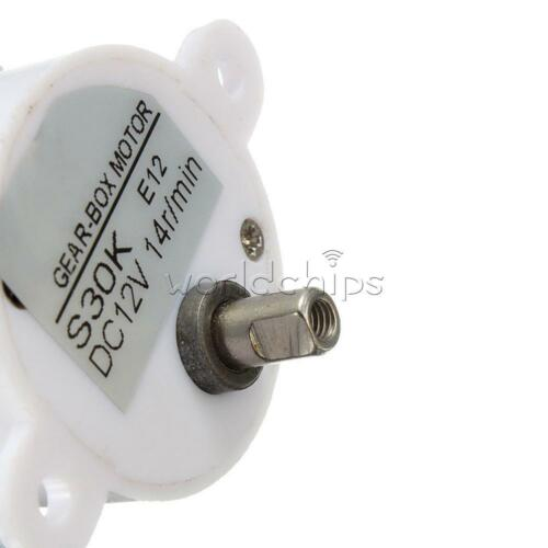 2 Wires DC 12V 14RPM High Torque S30K Electric Geared Box Reduction Motor