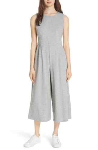 Eileen Fisher Petite Moon Wide Leg Cropped Cotton Knit Jumpsuit $278