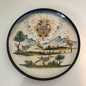 Italian Decorative Plates For Hanging.Details About La Piccola Bottega Italian Made Plate Wall Hanging 10 Pottery Decorative Birds
