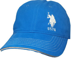 c723c5756 Details about U.S. Polo Assn. Men's Royal Baseball Cap with Embroidered  Horse