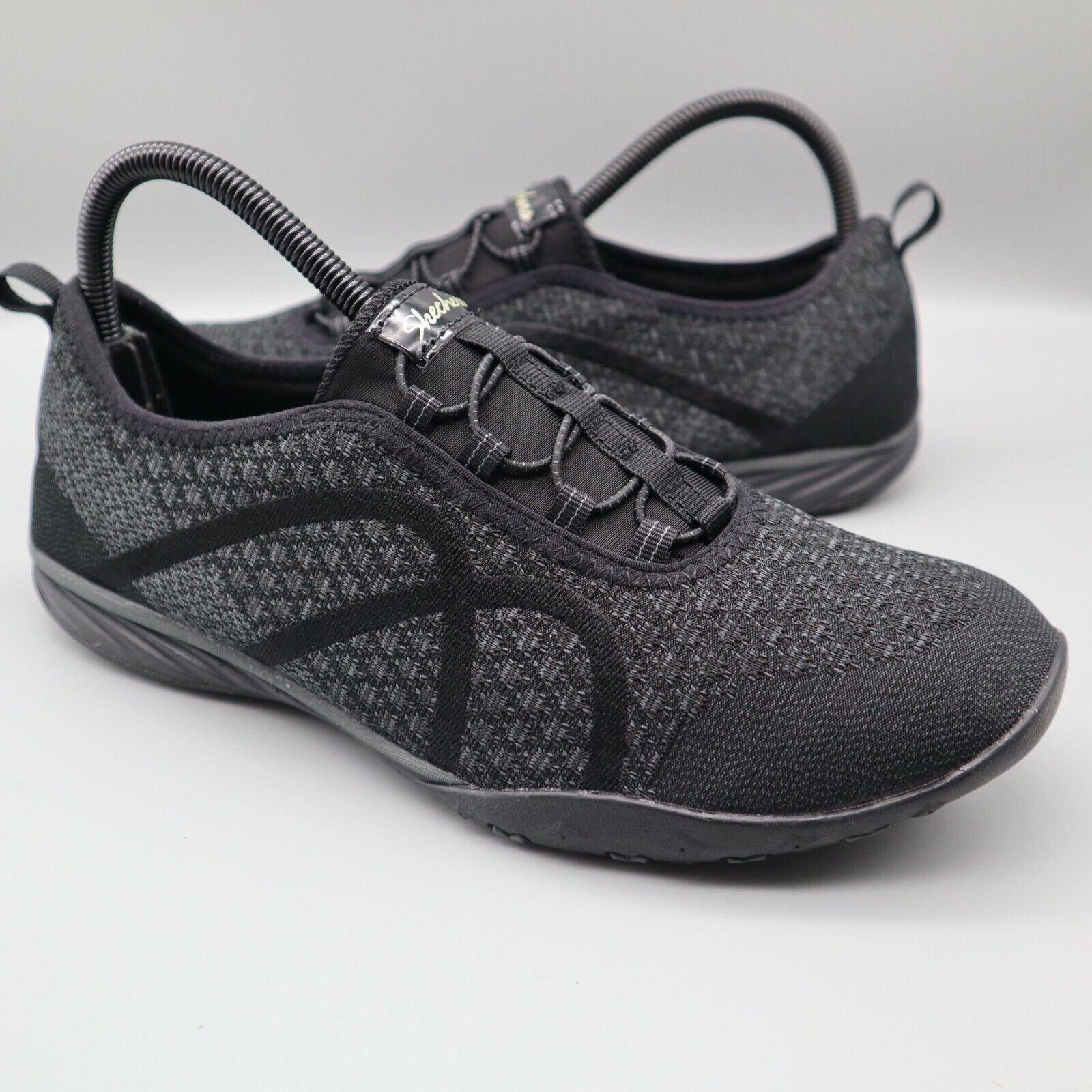 Skechers Shoes Movin' Womens Sz 10 Black Slip On Relaxed Fit Memory Foam Sneaker