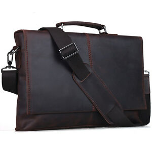 Vintage-Leather-Laptop-Briefcase-Cross-Body-Shoulder-Bag-For-Men-Brown-Attache