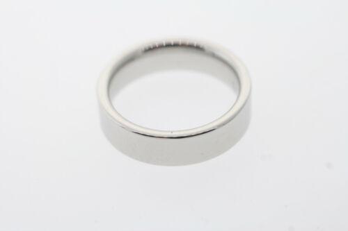 Triton 6mm Polished White Tungsten Carbide Flat Square Edge Band Ring