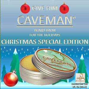 CAVEMAN-Beard-Balm-Men-039-s-Leave-in-Beard-Conditioner-and-Tamer-CHRISTMAS-TREE