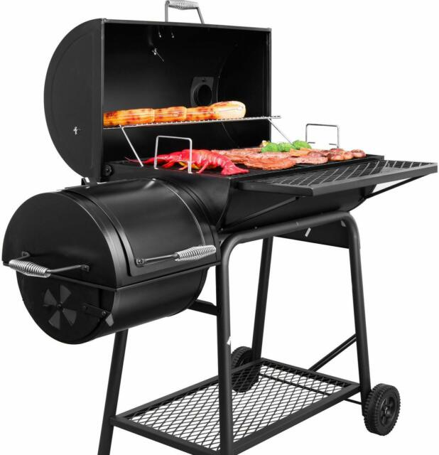 "29/"" Charcoal BBQ Grill Barbecue Smoker Portable Camping Backyard Cooking"