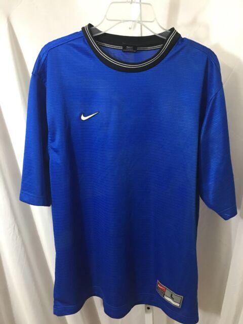 #399–. Nike Short Sleeves Blue Top Sap Markets Logo, Size L
