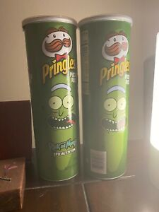 Pringles-PICKLE-RICK-and-MORTY-LIMITED-EDITION-5-5-oz-NEW-SEALED-Pack-Of-2-Cans