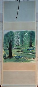 Excellent-Chinese-100-Hand-Painting-amp-Scroll-Landscape-By-Lin-Fengmian-WED9