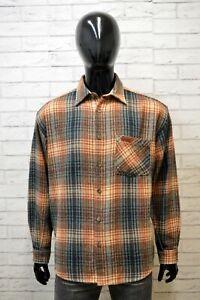 Camicia-MARLBORO-CLASSICS-Uomo-Taglia-2XL-Maglia-Polo-Shirt-Lana-Hemd-Quadri