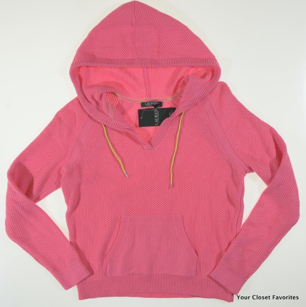 Ralph Lauren Active Women's Pink Mesh Style Hoodie size Medium