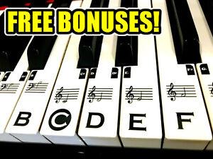 Music-Keyboard-Piano-Stickers-TRANSPARENT-FULL-SET-49-61-76-88-key-FREE-BONUSES