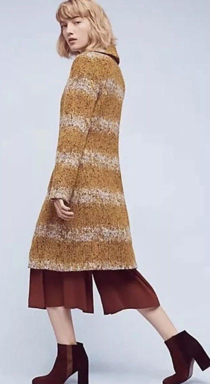 134. Abrigo Chaqueta Suéter de cosecha Tamaño Pequeño Tabitha   298 mostaza Lana usado en excelente estado  100% autentico