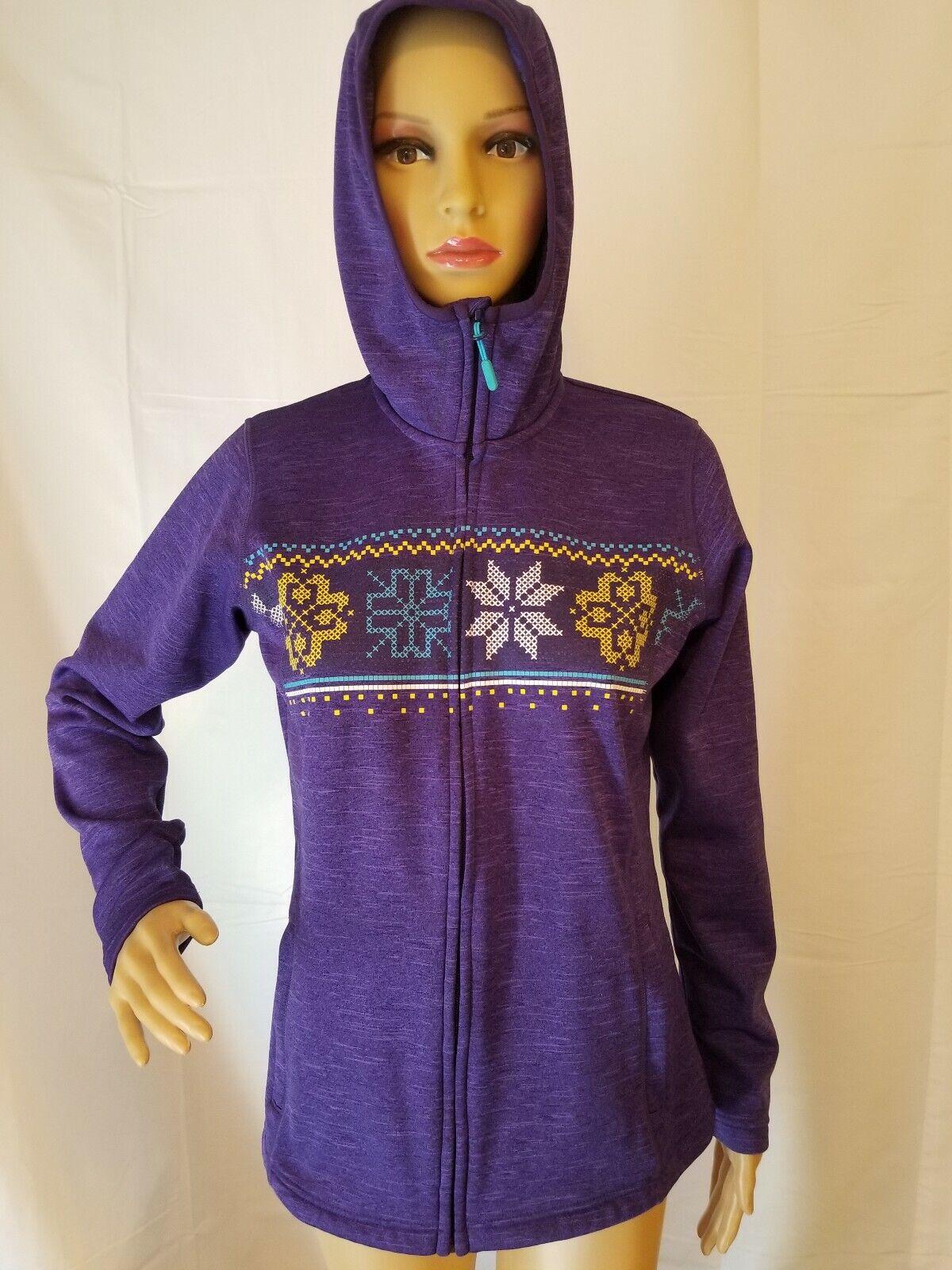 Rare Helly Hansen Full Zip Hoodie Sweatshirt Winter Womens Size Medium HH