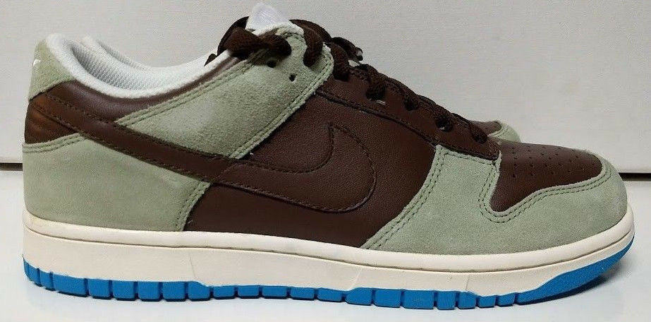 Nike Wmns Womens Dunk Low CL Size 9 RARE COLOR 2008 Brown Grey bluee 317815-221
