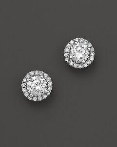 18Carat-Gold-Solitaire-Diamond-Halo-Detachable-1-00ct-GVS2-GIA-Certified-Studs