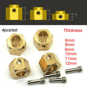 Heavy-Brass-Add-Weight-Widening-Hex-Hubs-for-1-10-RC-Crawler-Traxxas-TRX-4-trx4