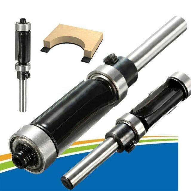 "New Woodworking Flush Trim Router Bit Top&Bottom Bearing 1"" H X 1/4'' Shank Tool"