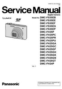 panasonic lumix dmc fh24 fh25 fs35 service manual repair guide ebay rh ebay com