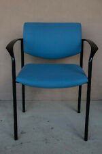 Steelcase Blue Fabric Covered Office Guest Chairs