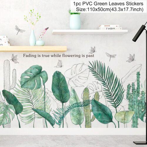 Tropical Foliage Leaves Plant Wall Sticker Vinyl Decal Nursery Home Art Mural