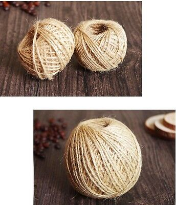 100M Mtrs 2 Ply Natural Brown Jute Hessian Burlap Twine Rustic String Gift Cord