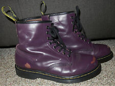 Dr MARTENS PURPLE Air Wair 1460 Worn Style Soft Leather 8 Eyelet ANKLE BOOTS