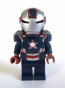 Lego Custom IRON PATRIOT Minifigure with Custom Armor & Helmet
