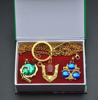 golden Legend of Zelda props necklace Nintendo Metal pendant keychaing 6style
