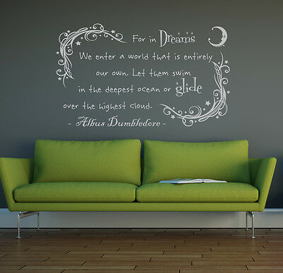 Dumbledore in dreams harry potter vinyl wall art sticker decal