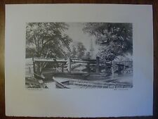 """Vintage Stow Wengenroth """"My Native Land"""" Lithograph, B & B Copyright"""
