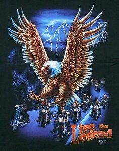 Adler T-Shirt HD Adlerkopf S M L Gr Weißkopf Seeadler Indianer Eagle Biker