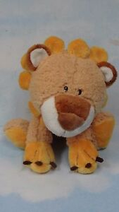 "Adorable Used FAO Schwarz Ryan Lion Cuddly Floppy Lovey Plush Doll 11"" Sitting*"