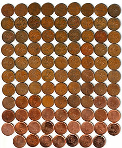 1920-2012-CANADA-97-x-1-Pennies-No-Duplicates-Many-Varieties