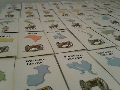 1993 RISK Game Country Cards REPLACEMENT YOU PICK A CARD