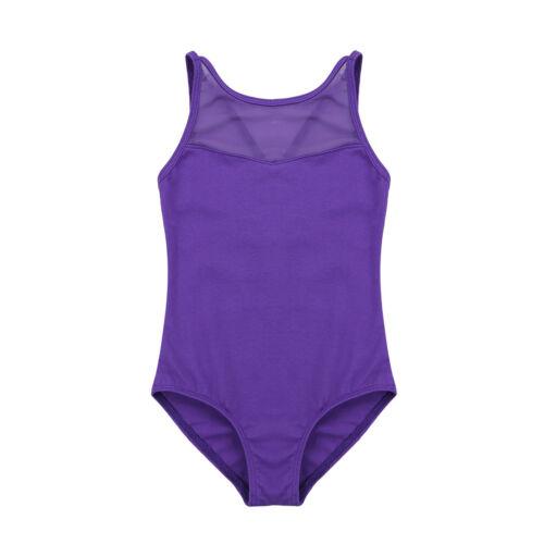 Girls Ballet Gymnastics Dance Leotards Kids Mock Neck Bodysuit Dancewear Clothes