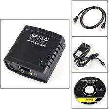 USB 2.0 LRP Print Server Share a LAN Networking USB Printer Ethernet Adapter