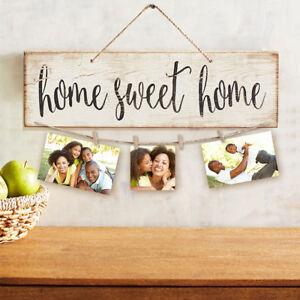 Eg-Neu-Vintage-Sweet-Home-Letter-Bedruckt-Holzwand-Haengende-Dekoration-Foto